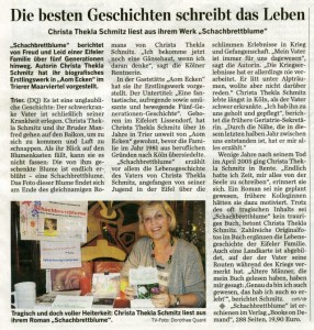 Zeitungsartikel Trierischer Volksfreund