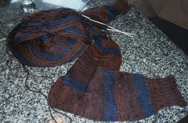 Socken für große Füße in ausgefallener Farbkombination!